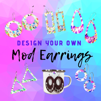 Custom Design Your Own Mod Earrings By Cr8tive Release Gifts