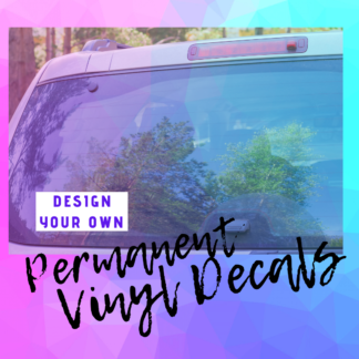 Custom Design Your Own Vinyl Decal by Cr8tive Release Gifts