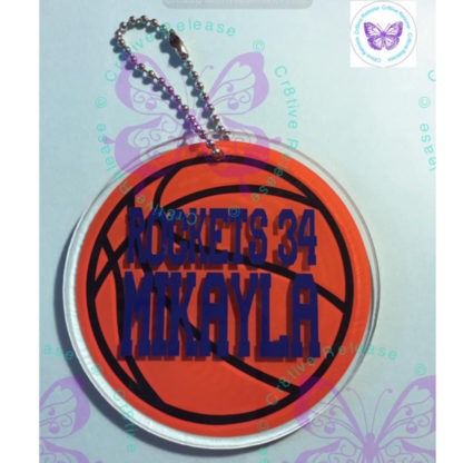 BASKETBALL KEYCHAIN BY CR8TIVE RELEASE GIFTS