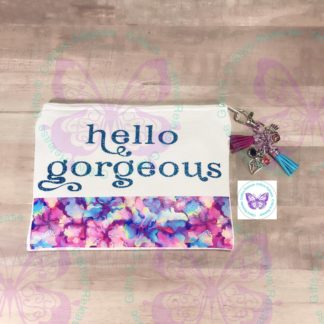 Hello Gorgeous Zipper Bag by Cr8tive Release Gifts