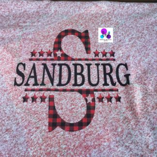 SANDBURG SCHOOL MONOGRAM BLANKET BY CR8TIVE RELEASE GIFTS