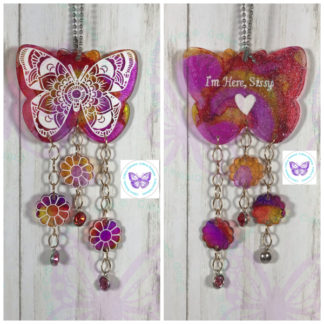 Floral Mandala Butterfly Suncatcher by Cr8tive Release Gifts