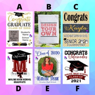 CONGRATS GRAD GARDEN FLAGS BY CR8TIVE RELEASE GIFTS
