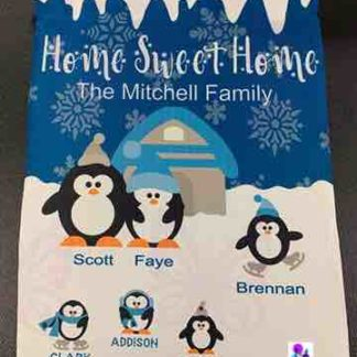 HOME SWEET HOME PENGUIN GARDEN FLAG BY CR8TIVE RELEASE GIFTS