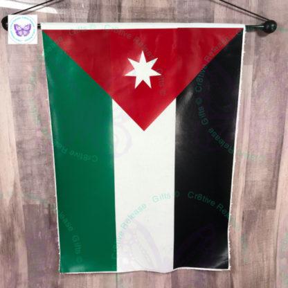 JORDAN NATIONAL FLAG GARDEN FLAG BY CR8TIVE RELEASE GIFTS
