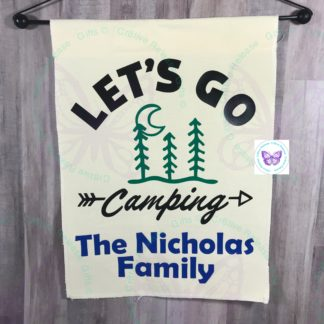 Let's Go Camping Garden Flag by Cr8tive Release Gifts