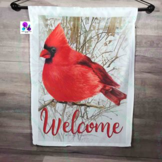 Welcome Cardinal Garden Flag by Cr8tive Release Gifts