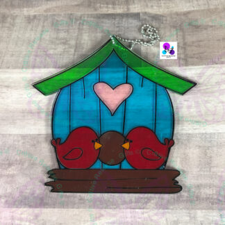 BIRDHOUSE SUNCATCHER BY CR8TIVE RELEASE GIFTS