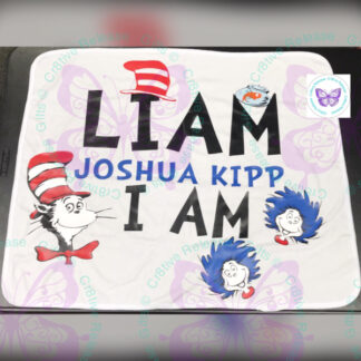 Dr. Suess Themed Baby Blanket by Cr8tive Release Gifts