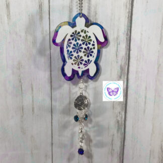 Floral Sea Turtle Suncatcher by Cr8tive Release Gifts