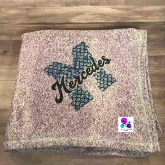 Mermaid Monogram Blanket by Cr8tive Release Gifts