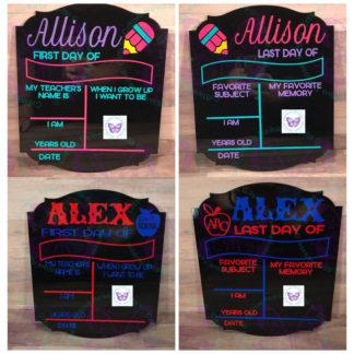 School Photo Acrylic Chalkboard by Cr8tive Release Gifts