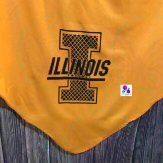 University of Illinois Monogram Blanket by Cr8tive Release Gifts