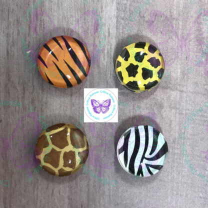 ANIMAL PRINT GLASS BUBBLE MAGNETS BY CR8TIVE RELEASE GIFTS