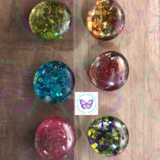 GLITTER GLASS BUBBLE MAGNETS BY CR8TIVE RELEASE GIFTS