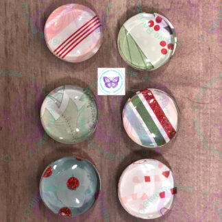 Pastel Christmas Glass Bubble Magnet by Cr8tive Release Gifts