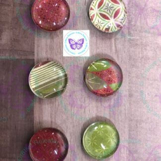 RETRO CHRISTMAS GLASS BUBBLE MAGNETS BY CR8TIVE RELEASE GIFTS