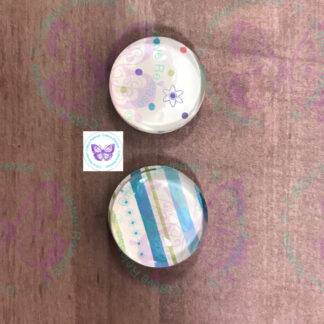 SPRING FLING GLASS BUBBLE MAGNETS BY CR8TIVE RELEASE GIFTS