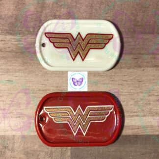 Wonder Woman Themed Alta-Cap Dog Tag Magnet by Cr8tive Release Gifts