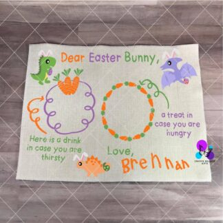 Easter Bunny Treat Placemat by Cr8tive Release Gifts