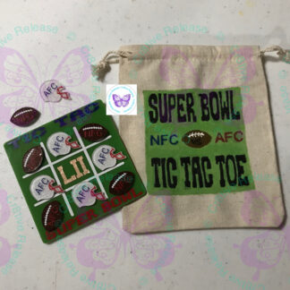 Super Bowl LII Tic-Tac-Toe Game Set by Cr8tive Release Gifts