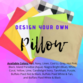 Custom Design Your Own Pillow by Cr8tive Release Gifts