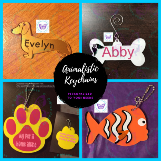 Animalistic Keychain / Bag Tag / Luggage Tag by Cr8tive Release Gifts