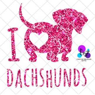 I Love Dachshunds Decal by Cr8tive Release Gifts