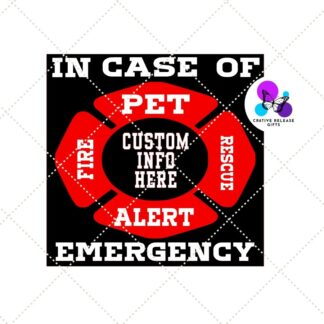 Pet Alert Decal by Cr8tive Release Gifts