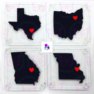 HOME STATE COASTERS BY CR8TIVE RELEASE GIFTS