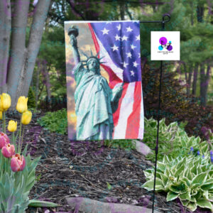 LADY LIBERTY GARDEN FLAG BY CR8TIVE RELEASE GIFTS
