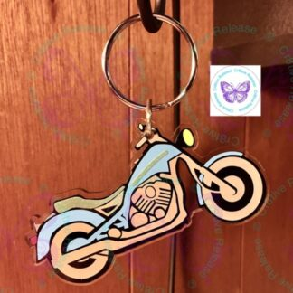 Motorcycle Keychain / Bag Tag / Luggage Tag by Cr8tive Release Gifts