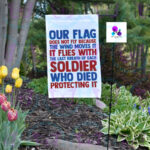 OUR FLAG GARDEN FLAG BY CR8TIVE RELEASE GIFTS