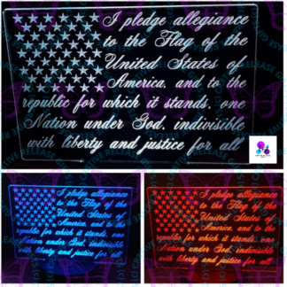 PLEDGE OF ALLEGIANCE NIGHT LIGHT BY CR8TIVE RELEASE GIFTS