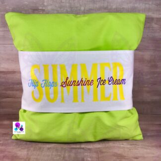 SUMMER FLIP FLOPS SUNSHINE ICE CREAM PILLOW BAND & PILLOW BY CR8TIVE RELEASE GIFTS