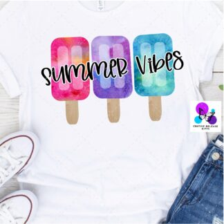 Summer Vibes Popsicle T-Shirt by Cr8tive Release Gifts