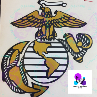 US Marine Logo Decal by Cr8tive Release Gifts