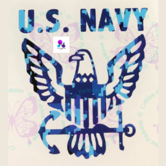 US NAVY EAGLE DECAL BY CR8TIVE RELEASE GIFTS