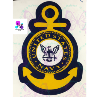 US NAVY LOGO ANCHOR DECAL BY CR8TIVE RELEASE GIFTS