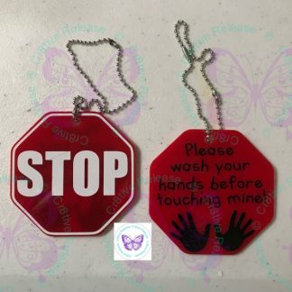 STOP WASH YOUR HANDS BAG TAG BY CR8TIVE RELEASE GIFTS